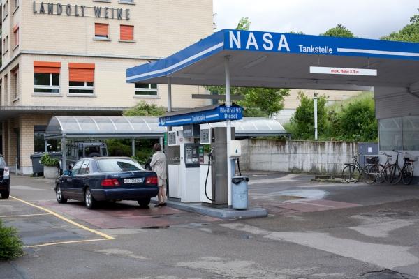 Lokale benzinepomp