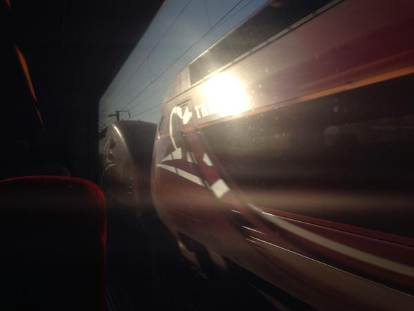 Thalys naar Parijs, november 2013