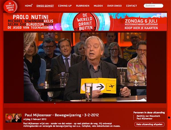 Paul Mijksenaar in DWDD, over bewegwijzering