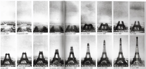 Constructie van de Eiffeltoren. Je leest er meer over op http://publicdomainarchive.com/public-domain-images-eiffel-tower-construction-from-1889-worlds-fair/