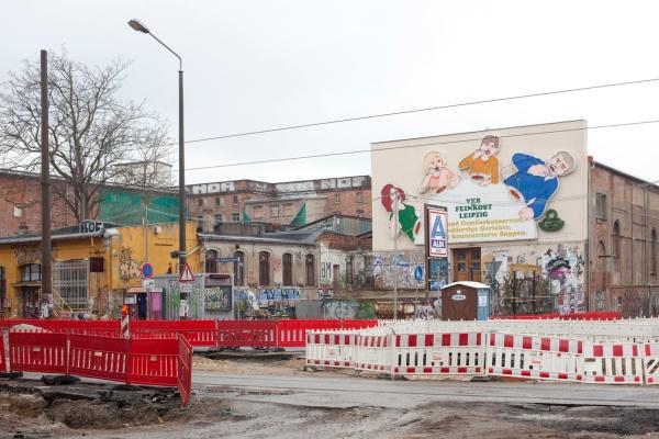 Ergens in Leipzig, buiten het oude centrum